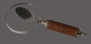 זכוכית מגדלת טביעת אצבע